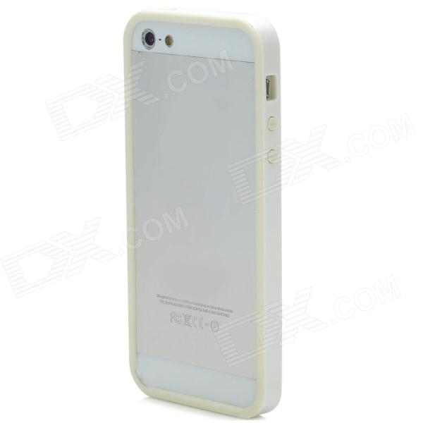 Super Light Protective Plastic Bumper Frame for Iphone 5 - White
