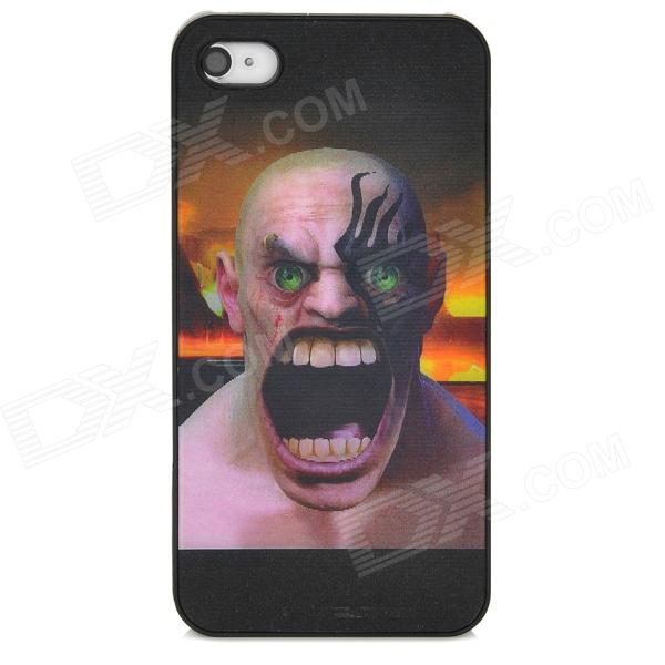 Stylish 3D Variable Man Pattern Protective ABS + PC Back Case for Iphone 4 / 4S - Multicolored halloween devil moon pattern protective pc back case for iphone 6 4 7 black multicolored