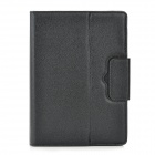 Wireless Bluetooth V3.0 78-Key Keyboard Protective PU Leather Case for Samsung N8000 / N8010 - Black