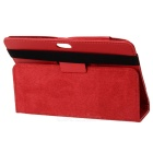"Protective Lichee Pattern PU Leather Case for 7"" Tablet PC - Red"