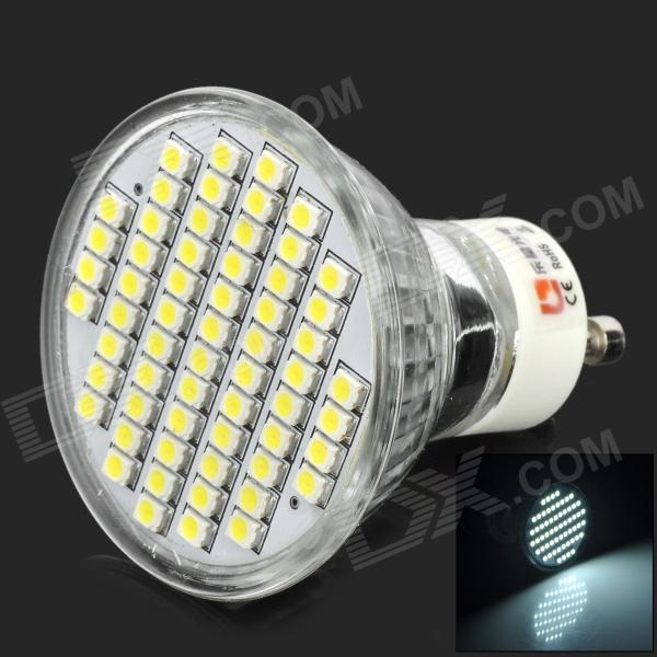 LeXing LX-004-HP GU10 3W 150lm 7000K 60-SMD 3528 LED White Spotlight Bulb - Silver lexing lx r7s 2 5w 410lm 7000k 12 5730 smd white light project lamp beige silver ac 85 265v