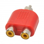 1 Male to 2 Female Splitter Audio Plug 3 RCA Adaptor