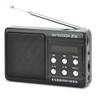 "Singbox SV-936 Portable 1.7"" LCD MP3 Player Speaker w/ FM + TF Card Slot - Black"