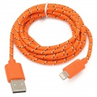 Nylon Housing USB Male to Lighting Data Sync & Charging Cable for iPhone 5 - Orange (2m)