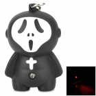 Unique Ghost Style LED Red Flashlight Keychain - Black + White (3 x AG10)