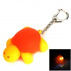 Cute Tortoise Style 2-LED White Flashlight Keychain - Orange + Yellow (3 x AG10)