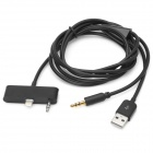 Lightning & 3.5mm Aux Connector Car Data / Audio Cable for iPhone 5 - Black (120cm)