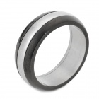 eQute RSSM17C2S8 Titanium Steel Finger Ring for Men (US 8)