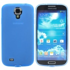 Protective TPU Back Case for Samsung Galaxy S4 / i9500 - Transparent Blue