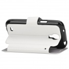 Protective PU Leather Flip Open Case for Samsung Galaxy S4 Mini - White + Black