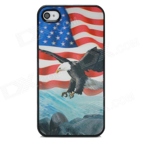 Stylish 3D Eagle Pattern Protective ABS + PC Back Case for Iphone 4 / 4S - Multicolored halloween devil moon pattern protective pc back case for iphone 6 4 7 black multicolored