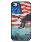 Stylish 3D Eagle Pattern Protective ABS + PC Back Case for iPhone 4 / 4S - Multicolored