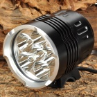 6 x Cree XM-L T6 2800lm 4-Mode White Bicycle Light - Black (6 x 18650)