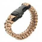 Bracelet Style Outdoor Survival Emergency Rope - Khaki