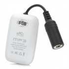 T-07 Piscina Waterproof MP3 Player recarregável - Black + White (8GB)