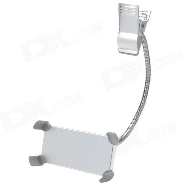 Universal Clip Style Flexible Handsfree Aluminum Alloy Phone Holder for Cellphone - Silver zd universal desktop clip on flexible cellphone holder for samsung htc more white
