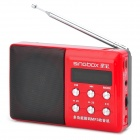 "Singbox SV-935 Portable 1.7"" LCD MP3 Player Speaker w/ FM + TF Card Slot - Black + Red"