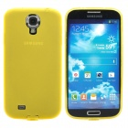 Protective TPU Back Case for Samsung Galaxy S4 i9500 - Transparent Yellow
