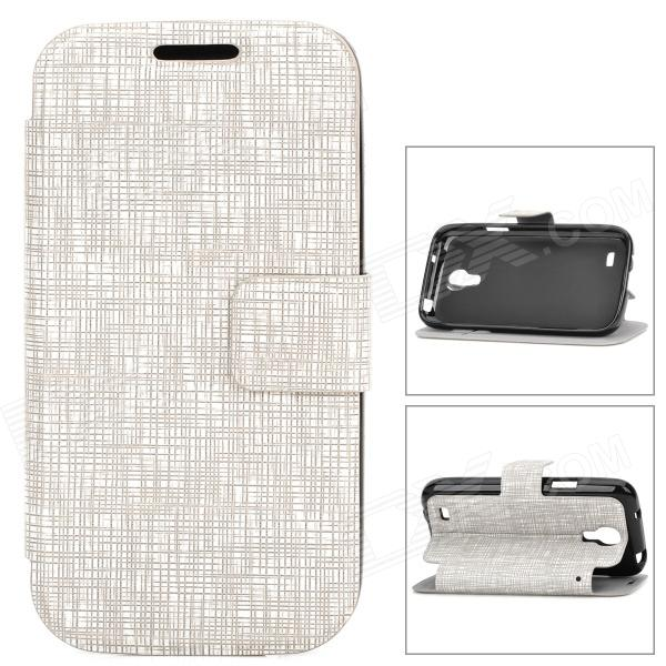 Protective Cobweb Pattern PU Leather Flip Open Case for Samsung Galaxy S4 Mini - Grey alligator pattern protective flip open pu leather case for samsung galaxy note 3 n9000 white
