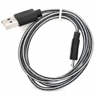 USB Male to Micro USB Male Data Sync & Charging Cable - Black + White (95cm)
