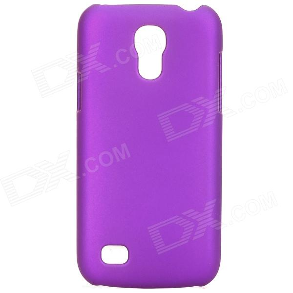 Protective Bead Light Paint Plastic Back Case for Samsung Galaxy S4 Mini - Purple