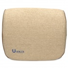Uhealer Office & Car Rest Linen Waist Support Cushion Pillow - Khaki
