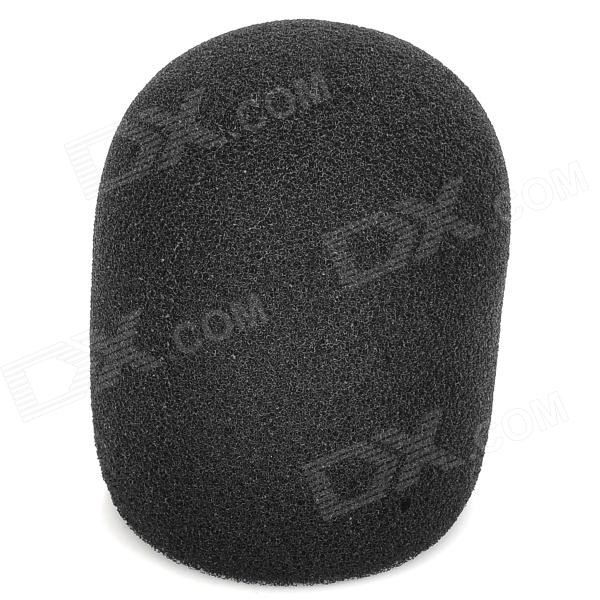 Windshield Thicken Sponge Microphone Cover - Black