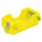 D Battery Power Source Holder Case Box - Yellow + Silver