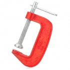 "002 002 2"" Fine Thread G-Clamp Classic Woodwork Joinery DIY Tool - Red + Silver"