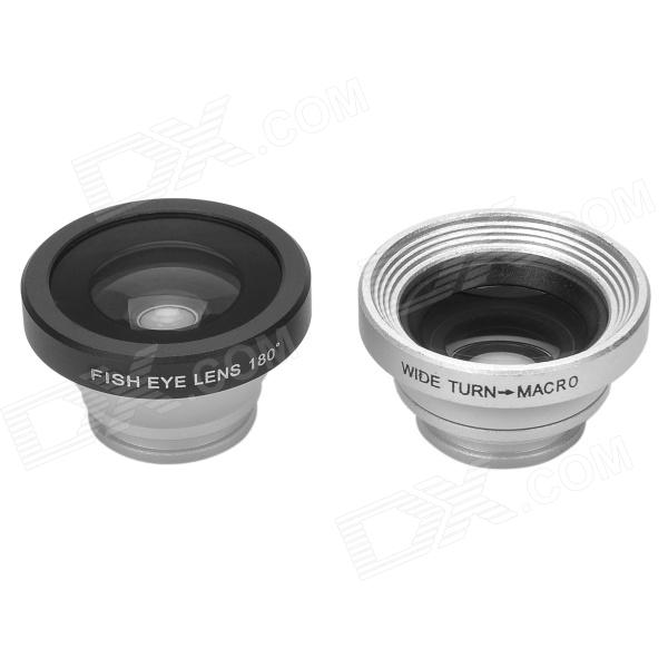 Universal Fisheye Wide Angle Lens + 0.4X Macro Lens for Iphone / Ipad / Cellphone / Tablet PC