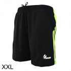 ARSUXEO Quick Drying Outdoor Sports Shorts Pants - Black + Fluorescent Green (Size-XXL)