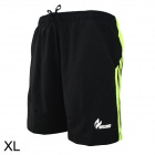 ARSUXEO Quick Drying Outdoor Sports Shorts Pants - Black + Fluorescent Green (Size-XL)