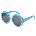 SUNGLASSES 1085-c3 Round Lens + Arrow Fashionable UV400 Protection Sunglasses - Blue