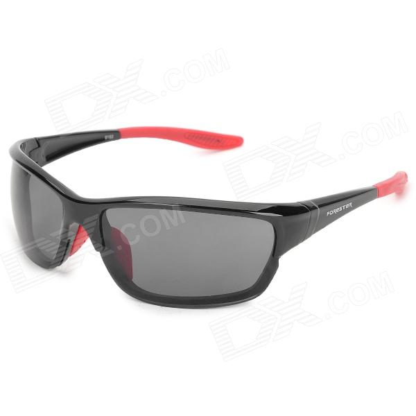 FORESTER 9193 Outdoor Bicycle UV400 Protection Windproof Goggles - Black + Red tactical outdoor war game uv400 protection goggles black yellow