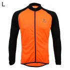ARSUXEO AR6020 Cycling Quick-drying Polyester Long Sleeves Jacket - Orange + Black (Size L)