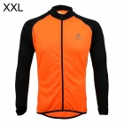 ARSUXEO AR6020 Cycling Quick-drying Polyester Long Sleeves Jacket - Orange + Black (Size XXL)