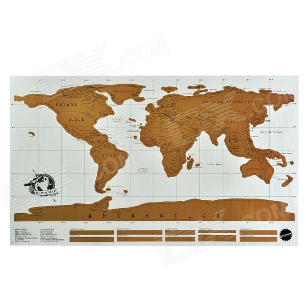QW006 Unique Fun Scratching World Map Poster - Multicolored