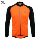 ARSUXEO AR6020 Cycling Quick-drying Polyester Long Sleeves Jacket - Orange + Black (Size XL)