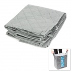 Folding PP Non-woven Fabric Clothes Storage Bag - Grey + Transparent
