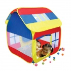 643-S Portable Folding Plastic Playing Tent for Kids - Red + Blue + Yellow