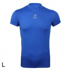 ARSUXEO AR6002S Men's Sports Quick-drying Polyamide + Lycra Skin-tight T-shirt  - Blue (Size-L)