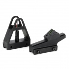 Aluminum Alloy Red Green Light Optical Fiber Gun Front Sight Kit for Airforce Condor + More - Black