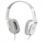Foldable Stereo Headphone w/ Mic / Sound Card / 4P Adapter - Light Grey (3.5mm Plug / 160cm-cable)