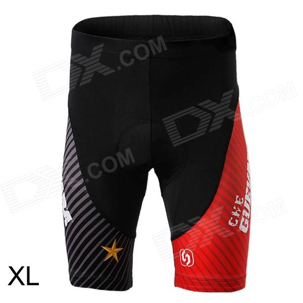 Spakct S13T02 Outdoor Sport Cycling Nylon Shorts for Men - Black + Red (Size XL)