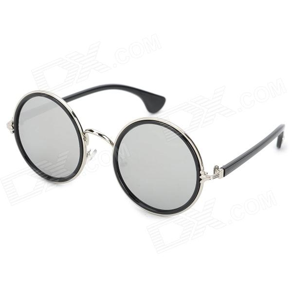 Becci 2109 Retro Big Round Mercury Plating Mirror Lens Sunglasses - Silver +  Black куплю машину лада 2109 беушную