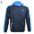 ARSUXEO AR011 Outdoor Sports Waterproof Sunproof Nylon Jacket w/ Hood - Blue + Black (L)