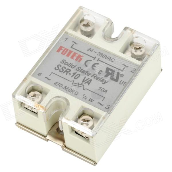 SSR-10VA Solid State Relay - White + Silver solid state relay ssr 120da clear cover for temperature contoller