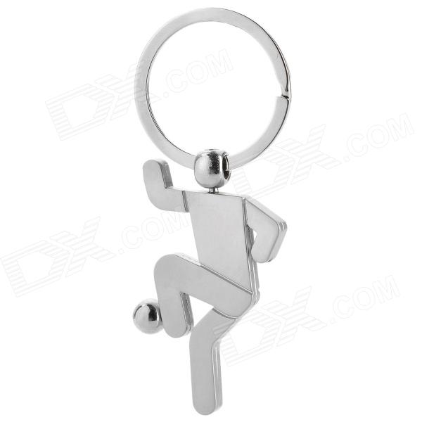 Boy Kick the Ball Style Zinc Alloy Keychain - Silver vicky ward the liar s ball