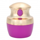 YSDX-877 Compact Electric Vibration Powder Puff Tool - Golden + Purple + Light Yellow (1 x CR2032)