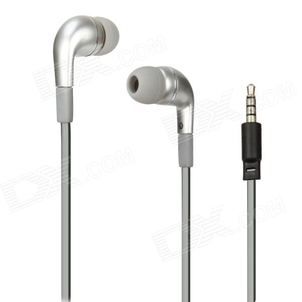 AE41 In-ear Earphone Cable w/ MIC  / Remote - SIlver (3.5mm-plug / 128cm-cable)